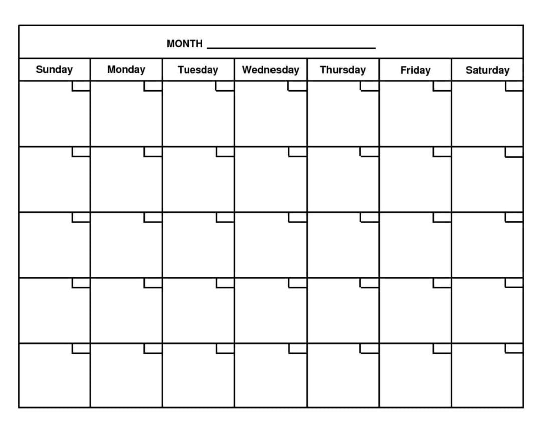 Printable March 2021 Calendar Full Page