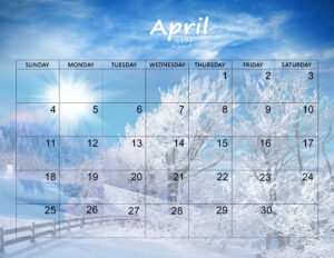 Cute April 2021 Calendar Wallpaper