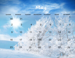 Download Cute May 2021 Calendar