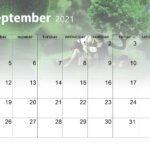 Cute September 2021 Calendar Wallpaper