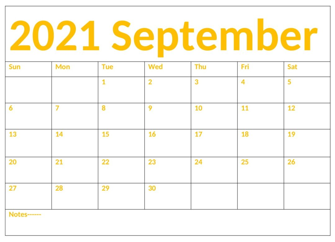 Download September 2021 Calendar With Holidays