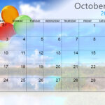 Printable Cute October 2021 Calendar