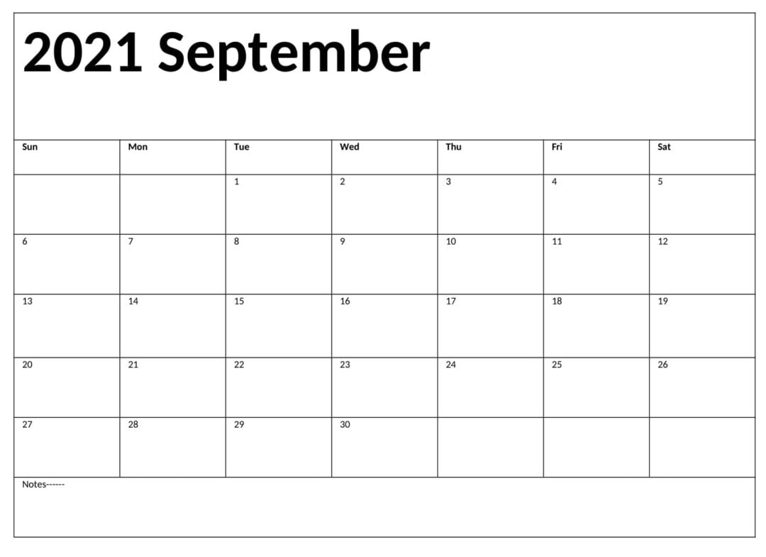 September 2021 Calendar With Holidays Sheet